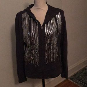 Wet Seal Tops - Wet Seal Sequin Hoodie